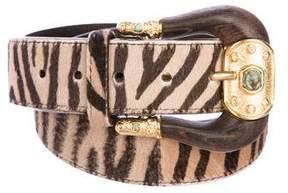 Valentino Ponyhair Waist Belt