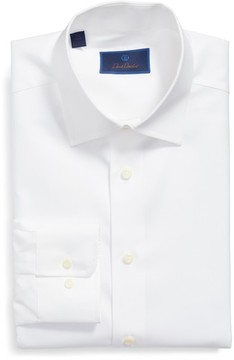 David Donahue Men's Regular Fit Solid Dress Shirt