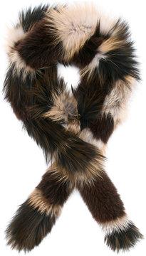 Yves Salomon striped fur stole