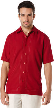 Cubavera Short Sleeve Embroidered L Shape