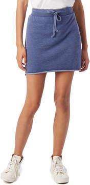 Alternative Apparel Raw Edge Burnout French Terry Mini Skirt