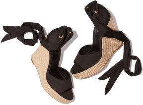 Michael Kors Embry Wedge Sandal Heels in Black, Size IT 37