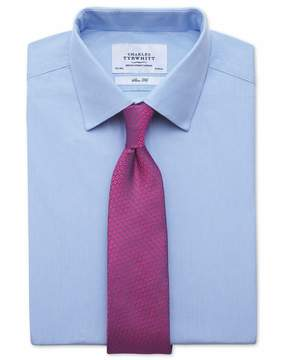 Charles Tyrwhitt Classic Fit Fine Stripe Sky Blue Cotton Dress Shirt French Cuff Size 15/33