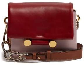 Marni Cady Leather Shoulder Bag - Womens - Red Multi