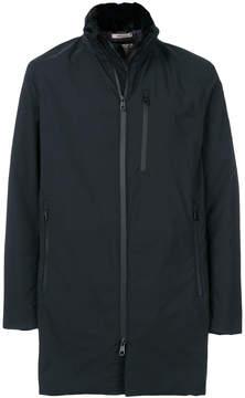 Armani Collezioni longline zip-up jacket