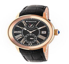 Heritor Mens Black Strap Watch-Herhr4305