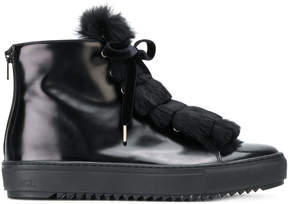 AGL fur detail sneakers