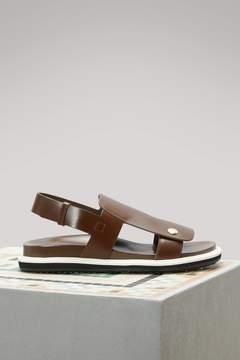 Marni Leather flat sandals
