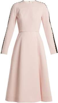 Emilia Wickstead Dionne macramé-trimmed crepe dress