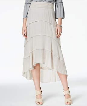 BCX Juniors' Tiered High-Low Skirt