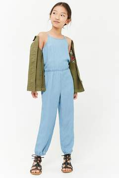 Forever 21 Girls Chambray Jumpsuit (Kids)