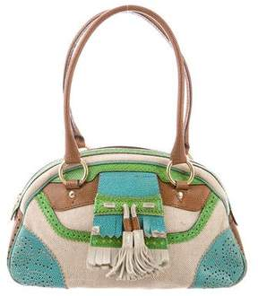 Etro Embossed Canvas Shoulder Bag