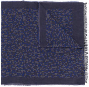 Paul Smith leopard embroidered scarf