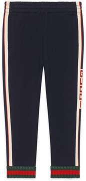 Gucci Children's pant with jacquard trim