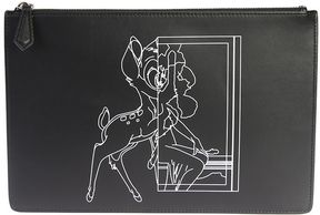 Givenchy Printed Leather Bambi Medium Clutch