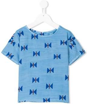 Bobo Choses chambray printed T-shirt