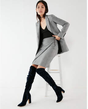 Express velvet pointed toe over the knee boots