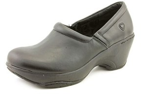 Nurse Mates Bryar Women W Round Toe Leather Black Nursing & Medical Shoe.