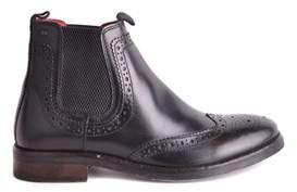Base London Men's Black Leather Ankle Boots.