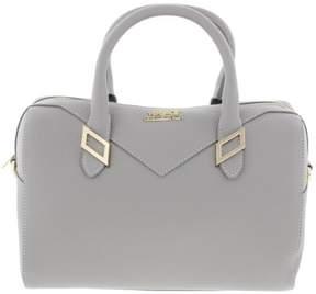 Versace Womens Leather Pebbled Satchel Handbag