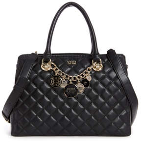 GUESS Victoria Quilted Satchel