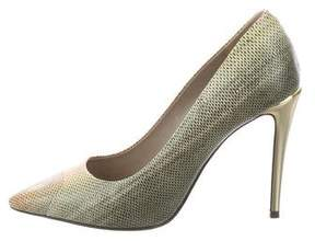 Calvin Klein Collection Embossed Pointed-Toe Pumps