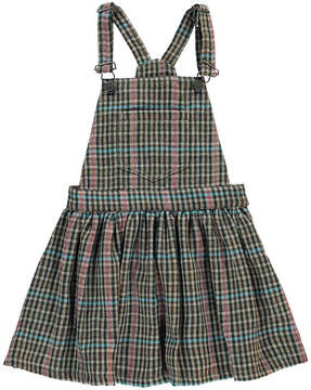 Finger In The Nose Trouble Checked Dungaree Dress