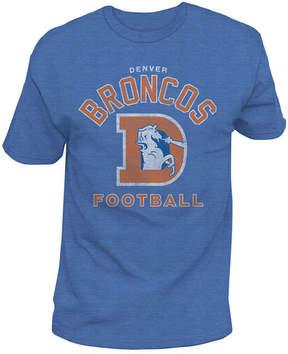 Authentic Nfl Apparel Men's Denver Broncos Midfield Retro T-Shirt