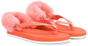 UGG appliqué thong sandals
