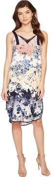 Adelyn Rae Frances Woven Printed Slip Dress Women's Dress