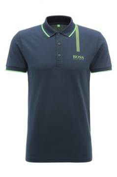BOSS Hugo Cotton Graphic Polo, Slim Fit Paule Pro XL Dark Blue