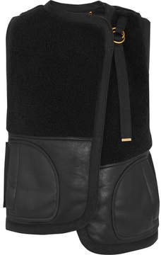 Chloé Reversible Shearling Vest - Black
