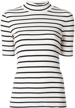 Closed striped fitted top