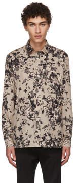 Givenchy Beige Hydrangea Francois Collar Shirt