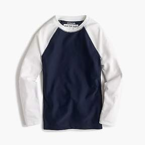 J.Crew Boys' long-sleeve colorblock rash guard