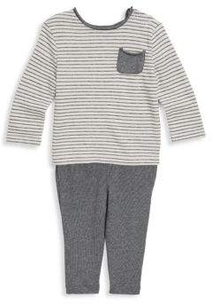 Splendid Baby Boy's Two-Piece Stripe Sweater & Knitted Pants Set
