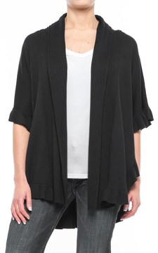 Chelsea & Theodore Ruffle-Trim Poncho (For Women)