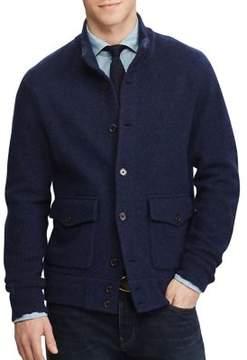 Polo Ralph Lauren Skeet Wool Ribbed Sleeve Cardigan