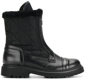 Moncler quilted shearling-trim boots