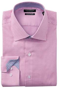 Tailorbyrd Houndstooth Trim Fit Dress Shirt