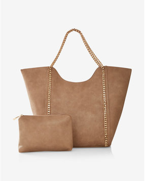 Express Street Level Chain Handle Tote With Wristlet