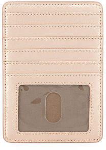 Neiman Marcus Saffiano Leather Short Card Organizer Case