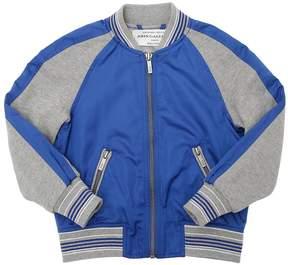John Galliano Color Block Nylon Bomber Jacket