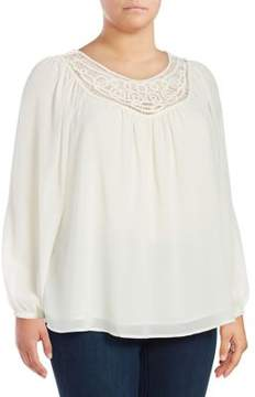 Context Plus Embroidered Long Sleeved Blouse