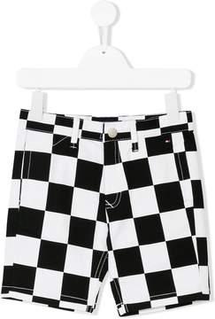 Tommy Hilfiger Junior racer check denim shorts