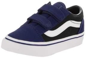 Vans VN-0A344KORD : Toddlers Old Skool V Pop Blue Depths/Black Skate Shoe (5 M US Toddler)
