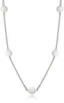 Antica Murrina Veneziana Perleadi White Murano Glass Beads Necklace