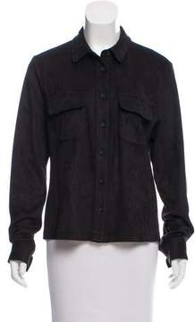 David Lerner Micro Suede Button-Up Top w/ Tags
