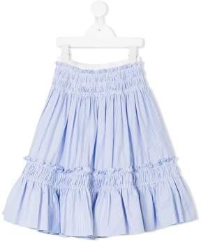 Simonetta ruffled striped skirt