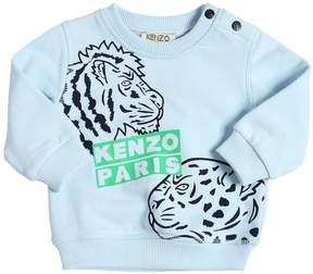 Kenzo Lion & Leopard Print Cotton Sweatshirt